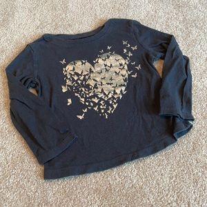 Hearts/Butterflies Long Sleeve Top 18-24